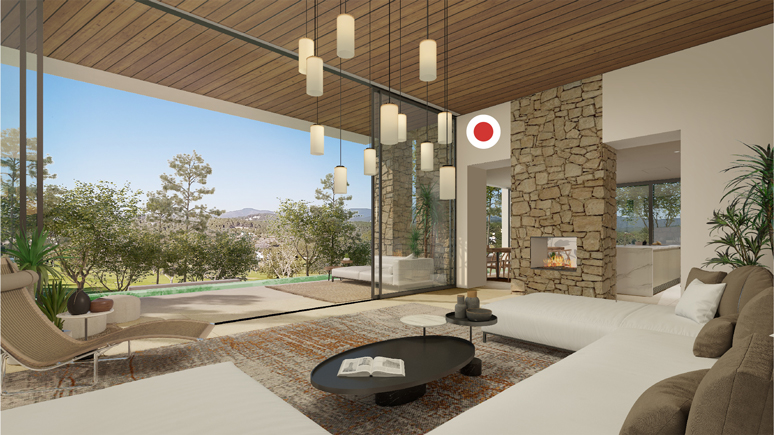 Saloon - view A - TypeD - Corallisa - Signature Home Ibiza