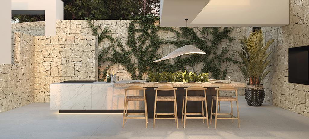 Kitchen terrace - view 01 - TypeA - Corallisa - Signature Home Ibiza